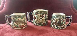 IKAROS POTTERY RHODES/POROS GREECE VIBRANT HAND MADE MUGS (SET OF 3) for Sale in Pittsburgh, PA