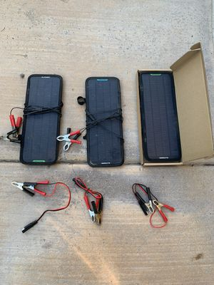 3 12v solar battery chargers for Sale in Santee, CA