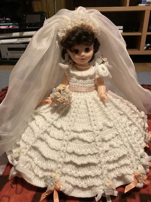 Antique Handmade Crocheted Bridal Doll, Bed Doll for Sale in Mount Rainier, MD