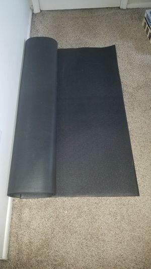 Extra Large Workout heavy duty vinyl black gym mat. 8 foot long x 4 feet wide. for Sale in Deerfield Beach, FL