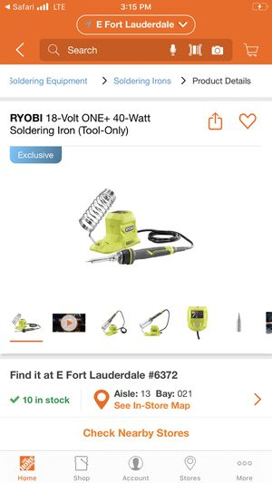 18V cordless solder iron for Sale in Fort Lauderdale, FL