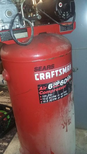 Craftsman 60 gal. 6hp air compressor for Sale in Kansas City, MO