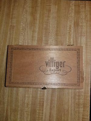 Vintage Wooden Villiger Export Box - Switzerland - Empty for Sale in Springfield, OR