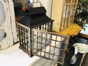 Very nice and unique, metal, wood, and glass antique cage for Sale in Fountain Inn, SC