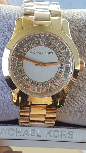 New Authentic Michael Kors Women's Goldtone Bling Face Watch for Sale in Montebello, CA