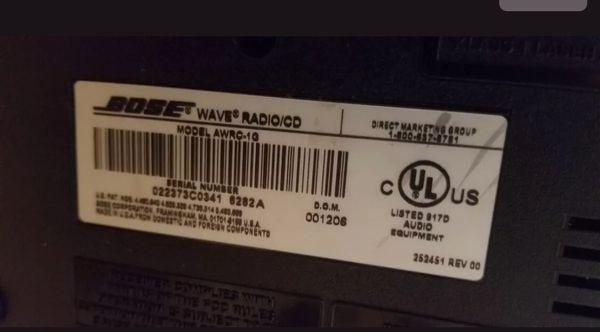 Bose music wave system awrc-1g