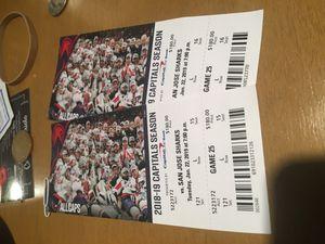 Washington Capitals Tickets Jan 22 for Sale in Alexandria, VA
