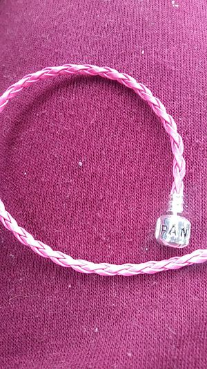 Pandora style pink leather bracelet for Sale in Everett, MA
