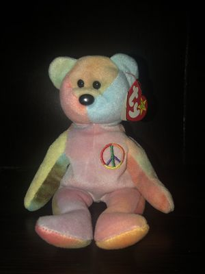 peace bear with PVC pellets !!! Ty beanie baby extremely rare for Sale in San Diego, CA