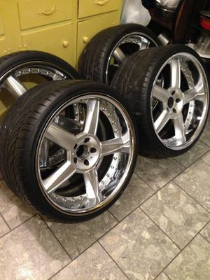 """20"""" Mercedes-Benz Forged Aluminum 3 Piece Wheels and Tires Custom Built from Cali for Sale in PRINCE, NY"""