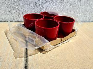 Ceramic Red Pots (4) for Sale in Miami, FL