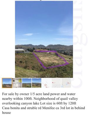 Land lot for mobile home/ house menifee ca for Sale in Murrieta, CA