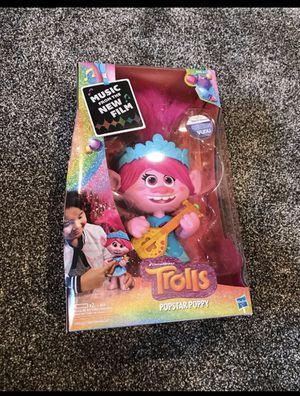 Trolls world tour rockstar poppy doll for Sale in Syracuse, UT