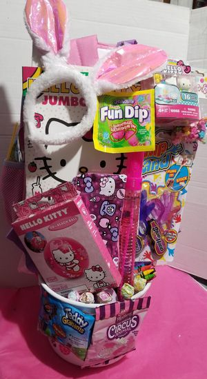 Easter basket hello kitty for Sale in Lynwood, CA