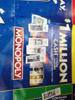 4 1 million $ monopoly tickets for Sale in Ellensburg,  WA