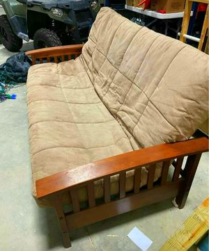 NOT FOR FREE NAME YOUR PRICE TAN FUTON WILL DELIVER FOR FREE JUST SEND ME YOUR ADDRESS AND IM ON MY WAY for Sale in Dallas, TX