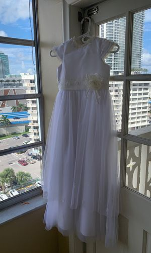 Make an offer white wedding dress or bridesmaids dress or flower girls dress for a wedding for Sale in Hallandale Beach, FL
