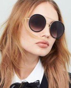 Black and Gold Round Gucci Sunglasses Brand New Women Men Unisex for Sale in Santa Monica,  CA