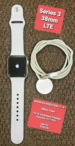 Apple watch series 3 38mm LTE for Sale in Houston, TX