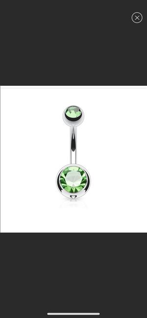 Green gem belly ring for Sale in Toledo, OH