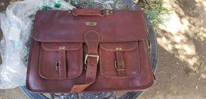 18 Inch Rustic Vintage Leather Messenger Bag Laptop Bag Briefcase Satchel Bag for Sale in Whittier, CA