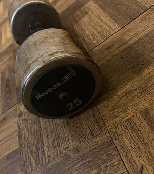 25 pound reebok dumbbell for Sale in Anaheim, CA