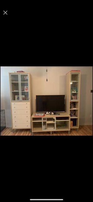 IKEA tv storage unit..with shelves & storage drawers. for Sale in North Chesterfield, VA