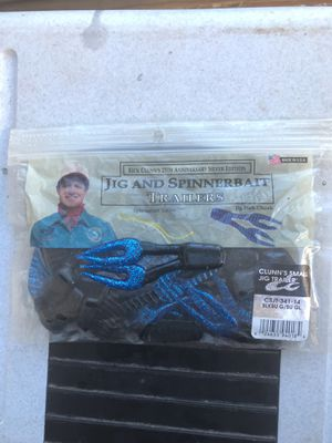 Jig and spinner bait trailers jig pork chunk fishing lure bait tackle for Sale in Greensboro, NC