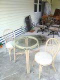 Bamboo table & 2 chairs for Sale in US