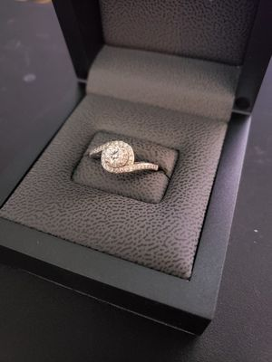 Tolkowsky 'Ideal cut' diamond engagement ring and custom wedding band combo for Sale in Lakeland, FL