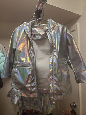 Toddler Girl Iridescent Rain Coat for Sale in San Diego, CA