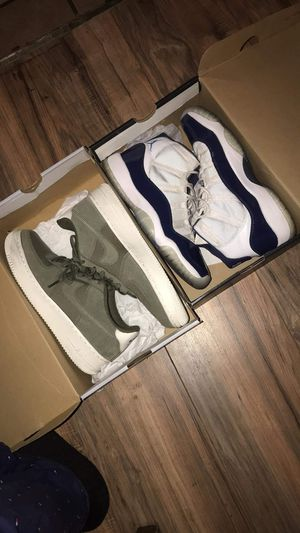 Jordan 11s and nike air force 1s (olive) for Sale in San Diego, CA