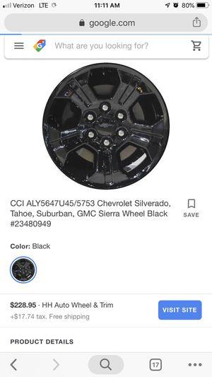 Chevrolet Truck Rims Black for Sale in San Diego, CA