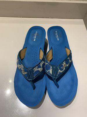Coach Jolene Size 10 B US Women's Signature Wedge Thong Flip Flop Sandals for Sale in Hialeah, FL