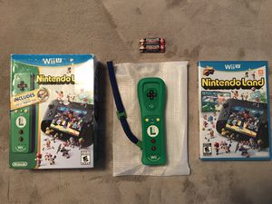 Open box never used, sealed game Wii U Nintendoland Luigi controller box set for Sale in Ruskin, FL