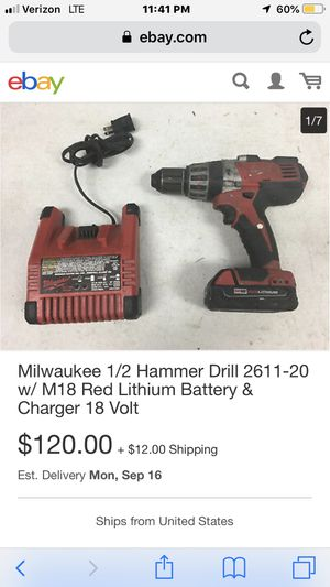 Milwaukee Hammer Drill M18 Red Lithium for Sale in Tampa, FL