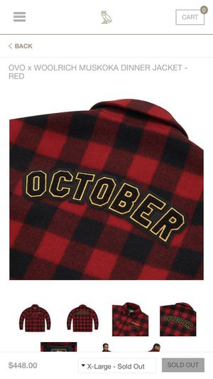 7413ccf0f63962 OVO x Woolrich Muskoka Jacket BRAND NEW XL SOLD OUT 11 10 Drake October s  Very