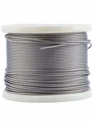 Deck Man 1/8 inch T316 Stainless Steel Wire Rope for Cable Railing,Marine Grade (500FT) for Sale in Rancho Cucamonga, CA