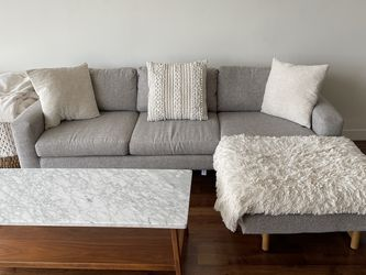 Gray Couch Sectional / With Modular Ottoman for Sale in Portland,  OR