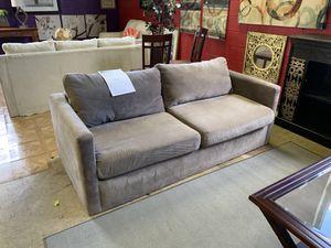 Grey Velvet Modern Couch for Sale in Gaithersburg, MD