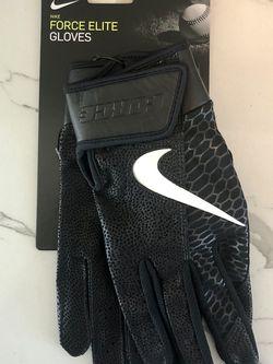 Nike Force Elite Batting Gloves Size L Black for Sale in San Diego,  CA