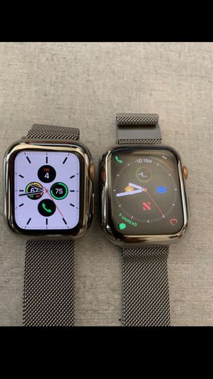 two apple watch 5 series both still under warranty with apple 40 mm and a 44mm shipping only. Ill take 100 for each or 160 for both for Sale in Houston, TX