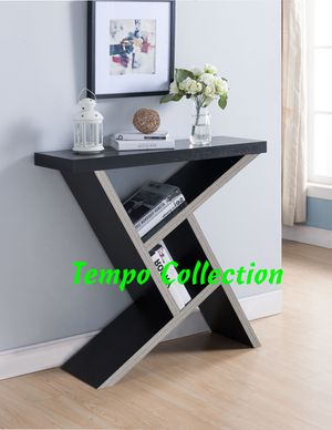 NEW, Samantha Console Table, Espresso and Dark Taupe Color, SKU 161616, SKU# 161616 for Sale in Santa Ana, CA