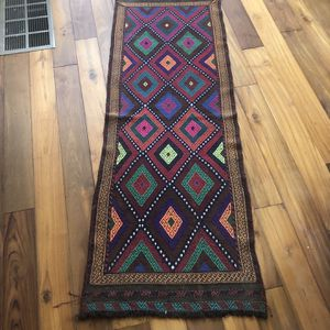 Authentic Hand Knotted Suzani Kilim Wool 2x6 Runner for Sale in Seattle, WA