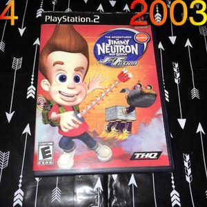2003 PS2 Jimmy Neutron Jet Fusion game for Sale in Phoenix, AZ