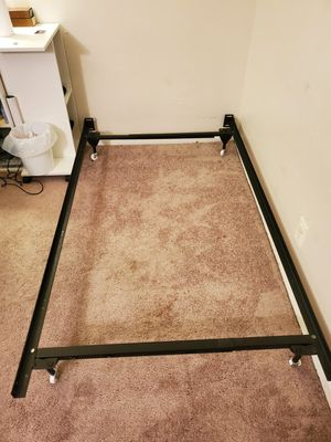 Twin-size metal bed frame. for Sale in Austin, TX