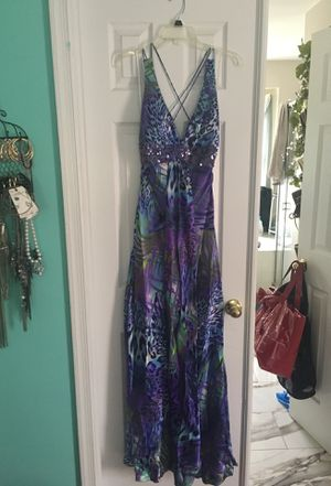 Formal purple and blue animal print mermaid dress for Sale in Germantown, MD