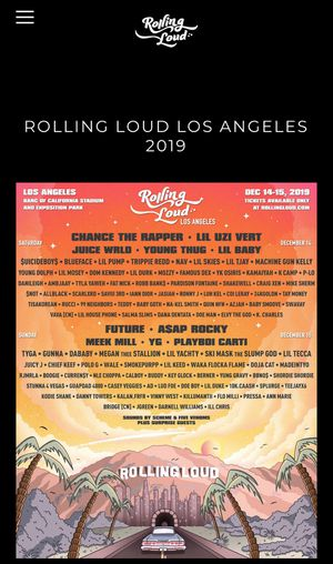 3 Rolling Loud LA tickets Available for Sale in San Jose, CA