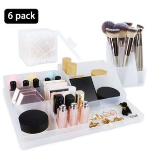 6 Pack Plastic Makeup Organizer Tray, for Sale in San Diego, CA