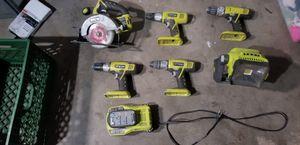 Ryobi cordless power tool lot for Sale in Phoenix, AZ